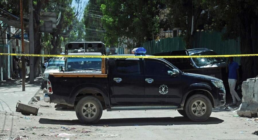 Arkivfoto. Det er endnu ikke klart, hvor mange mennesker er blevet dræbt, da en bilbombe eksploderede i Mogadishu.