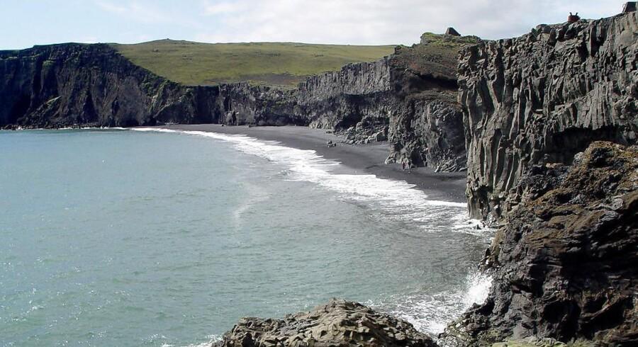 Arkivfoto fra Island.