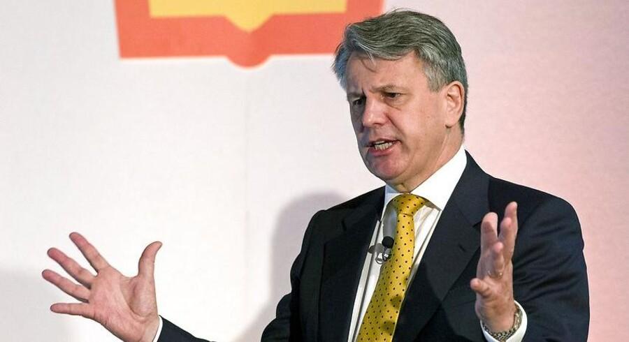 Ben Van Beurden, administrerende direktør for Shell, ved en pressekonference 2015.