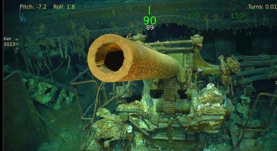 Det sank i 1942, og nu er det blevet fundet, hangarskibet »USS Lexington«. På cirka tre kilometers dybde i Koralhavet.
