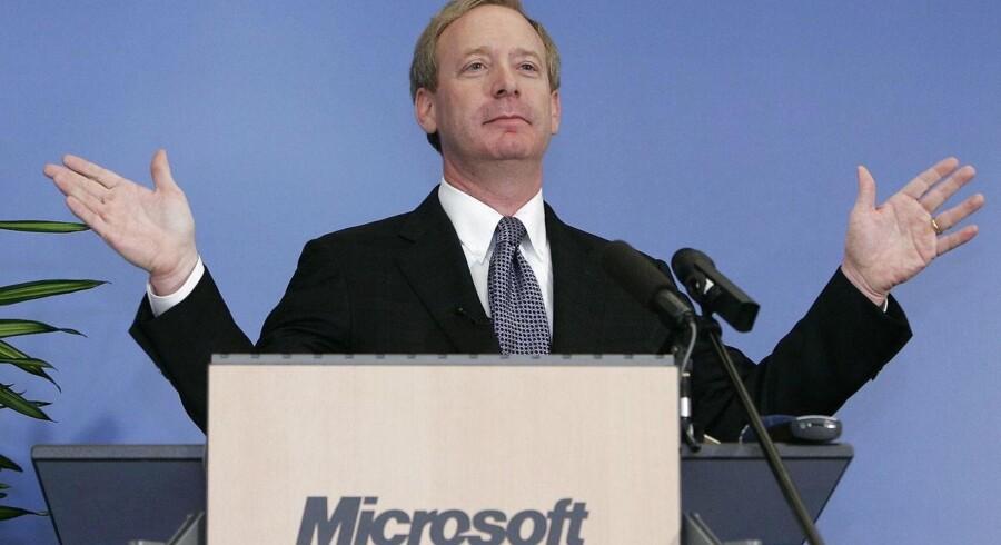 Microsofts juridiske direktør, Brad Smith, kalder justitsministeriets indgreb for »en utvetydig sejr« for privatlivets fred. Arkivfoto: Yves Herman, Reuters/Scanpix