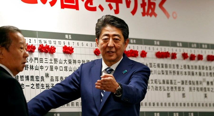 Japans premierminister Shinzo Abe. REUTERS/Issei Kato