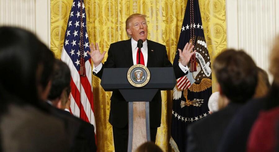 Donald Trump ved torsdagens pressemøde. Foto: REUTERS/Kevin Lamarque