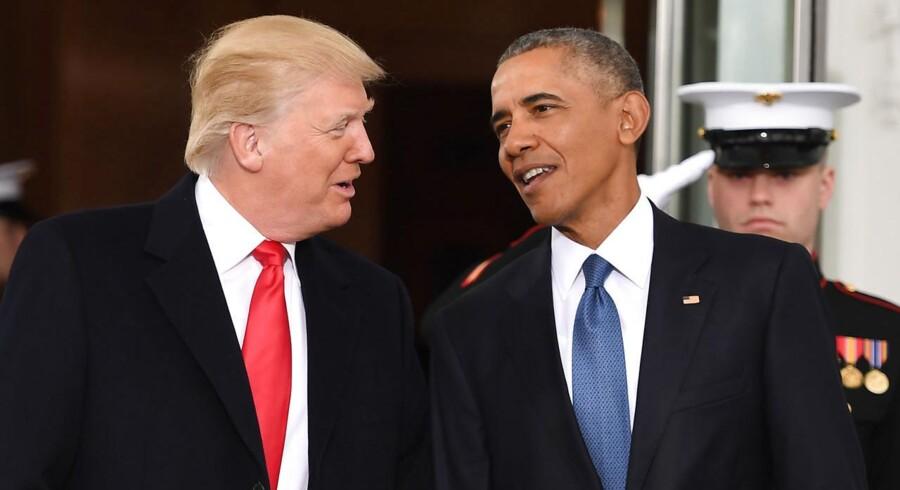 Arkivfoto: Præsident Trump sammenligner den påståede aflytning af ham under valgkampen med Watergate-skandalen i 70'erne. . (Foto: JIM WATSON/Scanpix 2017)