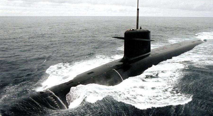 Arkivfoto: Verdens største atomubåd, »Dmitrij Donskoj«.