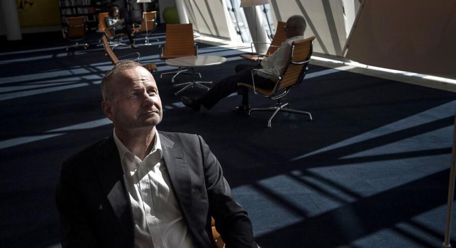 Steen Jakobsen i Saxo Banks imposante lokaler i Hellerup.