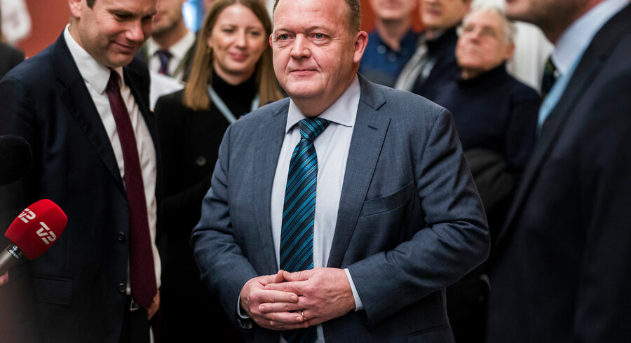 Statsminister Lars Løkke Rasmussen (V) ankommer til samråd om kvotekonger onsdag den 31. januar 2018. (Foto: Martin Sylvest/Scanpix 2018)