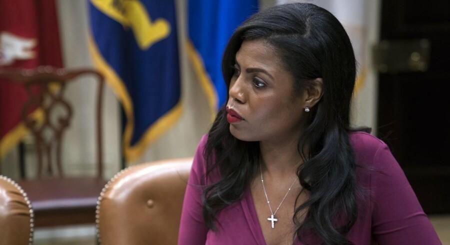 Assistent til USA's præsident Omarosa Manigault-Newman fratræder sin stilling i slutningen af næste måned, og kommer i interviews med opsigtsvækkende hentydninger til, at årsagen for hendes fratrædelse kan være racerelateret. Arkivfoto.