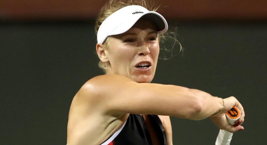 Caroline Wozniacki skal i Miami forsøge at rejse sig oven på nederlaget i Indian Wells. Scanpix/Matthew Stockman
