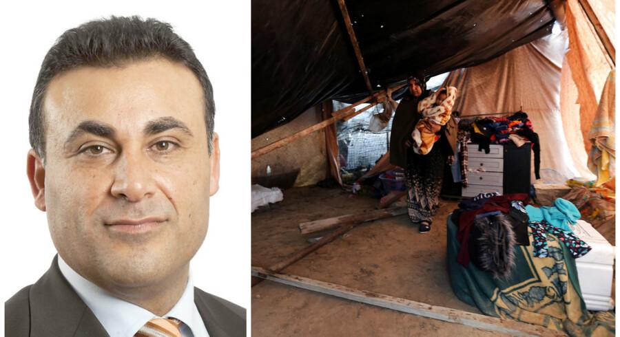 »Men hvis de ville, kunne 'flygtningene' altså uden videre forlade flygtningelejrene og finde hjem og bolig uden for lejrene, hvis de elelrs har råd.«
