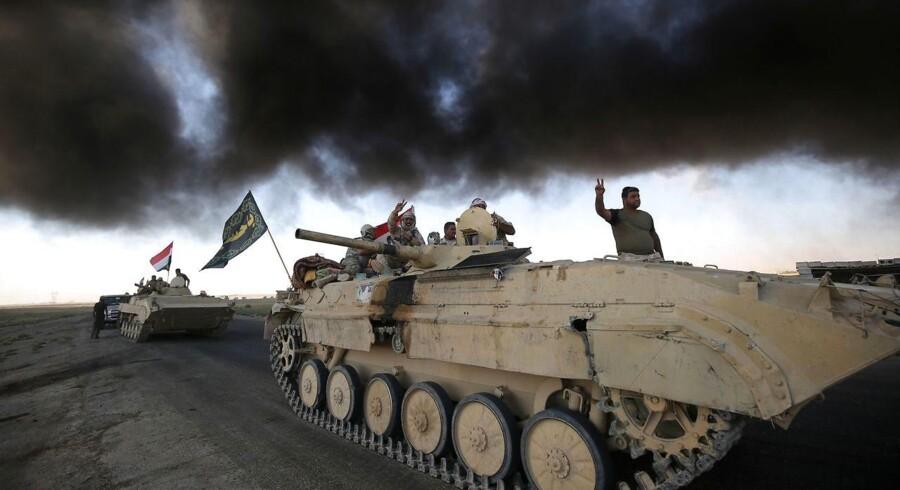 Irakiske soldater på vej mod Islamisk stats sidste højborg, Hawija.