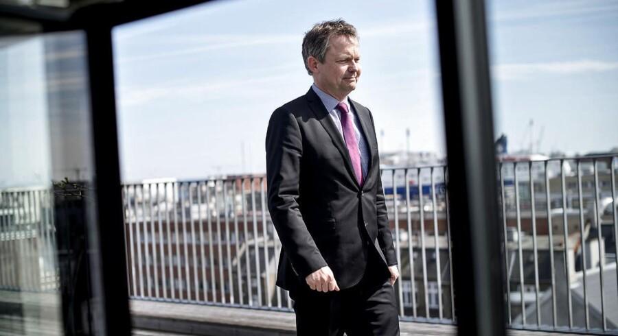 Arkivfoto: Ulrik Nødgaard, der er direktør i pengeinstitutternes brancheforening, Finansdanmark, afviser dog forslaget.