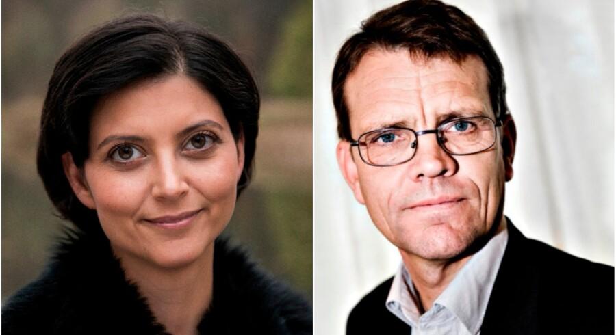 Berlingske har talt med Lyngby-Taarbæks borgmester, Sofia Osmani (K), og borgmesterkollegaen Mikael Klitgaard fra Brønderslev om det nye udligningssystem, som for tiden skaber hovedbrud på Christiansborg. Foto: Mads Joakim Rimer Rasmussen og PR.