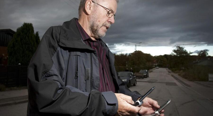 Dårlig mobildækning, som her hos Poul Hansen i Hjortshøj, fylder stadig langt det meste af debatten, hvor man hellere skulle gøre mere for at få danskerne til at vælge de højere internethastigheder, som de allerede kan få, men som få køber. Arkivfoto: Jens Thaysen, Scanpix