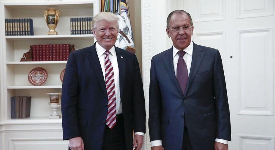 Donald Trump og Sergej Lavrov.