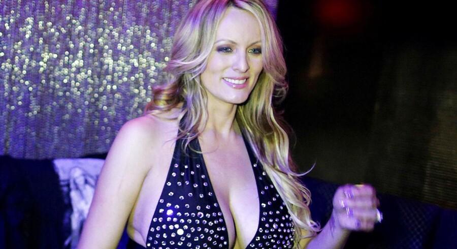 Stephanie Clifford aka Stormy Daniels fotograferet efter et stripshow på Gossip Gentleman Club i New York.