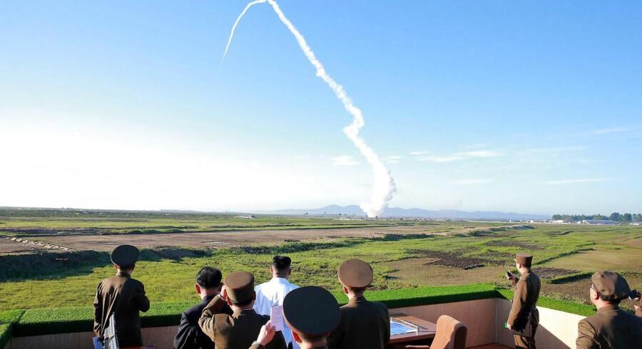 Arkivfoto: Rusland anser risikoen for en væbnet konflikt i om Nordkoreas atomvåben som høj. (Foto: KCNA KCNA/Scanpix 2017)