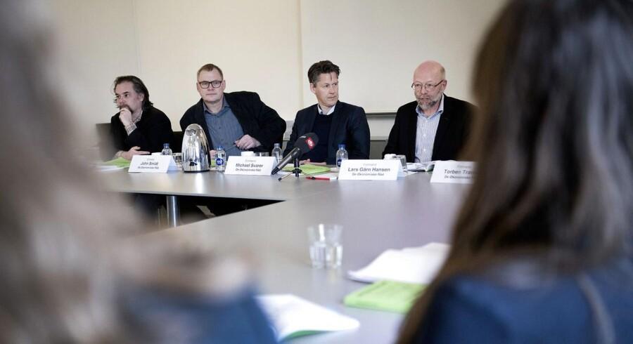 De Økonomiske Råds fremlagde i går deres seneste rapport, men den bebudede udflytning til Horsens gør det muligvis svært at finde kolleger i fremtiden. De får nu støtte af kolleger rundt om i Europa. (Foto: THOMAS SJØRUP/Scanpix 2018)