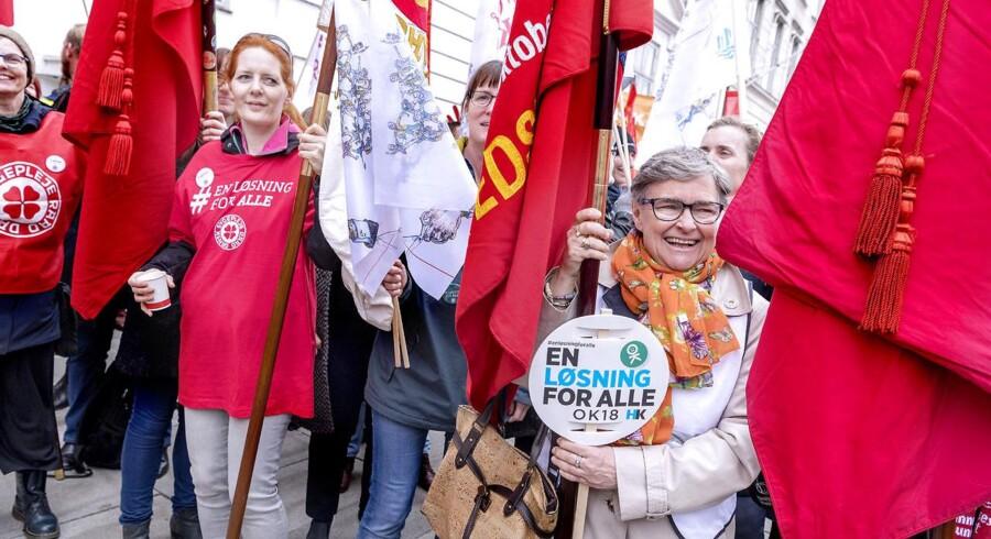 Demonstration foran Forligsinstitutionen på Sankt Annæ Plads i København, lørdag d. 14. april 2018. (Foto: Bax Lindhardt/ Scanpix 2018)