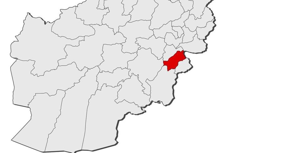 Paktia-provinsen i Afghanistan, hvor angrebet fandt sted i hovedstaden Gardiz.