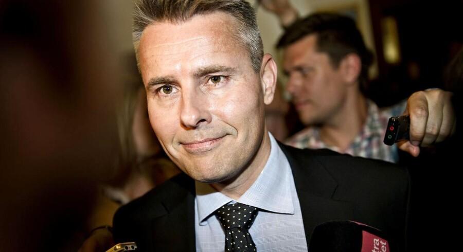ARKIV. Polemik mellem Sass Larsen og finansminister Claus Hjort Frederiksen (Foto: Torkil Adsersen/Scanpix 2016)