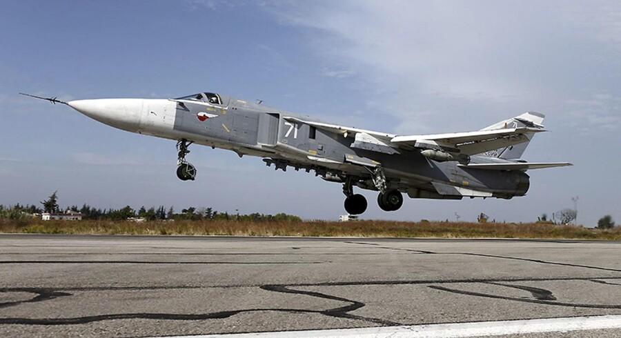 Arkivfoto: Et samarbejde om at forhindre kollisioner i luftrummet over Syrien er indstillet midlertidigt ifølge Rusland.