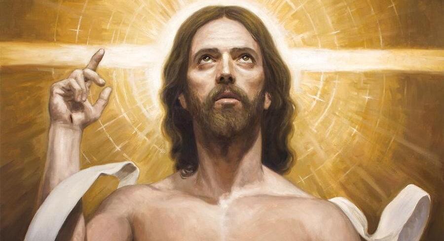 Jesus-maleriet »Cristo Resucitado« udkommer snart på frimærke fra Vatikanet. Det er malet af spanske Raúl Berzosa. Jesus kan på billedet prale af en overkrop i overkroppenes absolutte superliga.