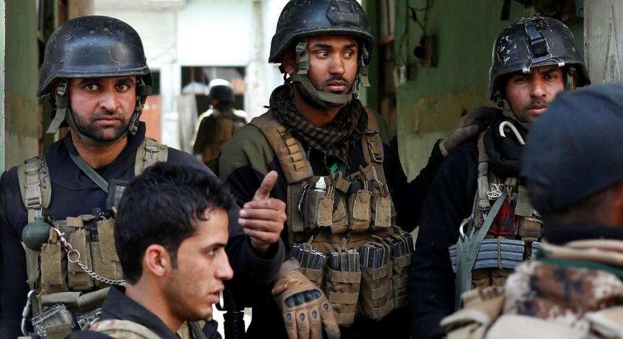 Irakiske specialstyrker i Mosul.