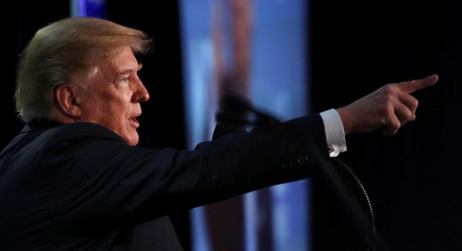 Da Trump fik underkendt sit indrejseforbud ved lavere retsinstanser, slog han på, at det skyldtes partiskhed blandt dommere. REUTERS/Jonathan Ernst