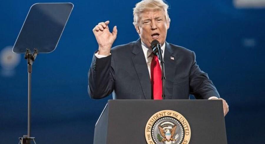 Arkivfoto. Det er i dag, mandag, en måned, siden Donald Trump tiltrådte som USAs 45. præsident, og man kan gøre sig sine første meningsfulde betragtninger om dette helt usædvanlige forløb.