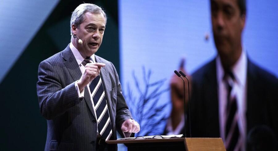 """Den tidligere leder af UKIP, Nigel Farage, holdt sig ikke tilbage, da han 30. novembervar inviteret til DR Koncerthuset for at tale om emnet """"Har vi (medierne, red.) mistet jordforbindelsen?"""" under mediekonferencen News Xchange 2016."""