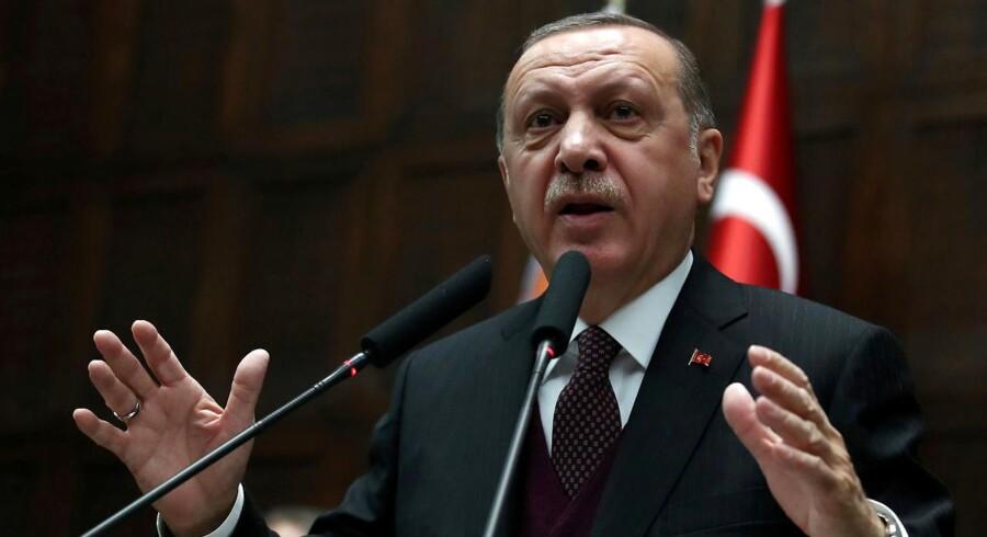 ARKIVFOTO. Det var den tyrkiske præsident, Recep Tayyip Erdogan, som førte an i en islamisk fordømmelse af Trumps udmeldinger om Jerusalem i december.