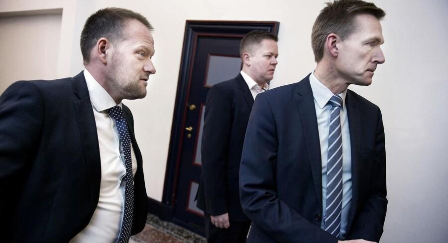 René Christensen (til venstre) sammen med partifællerne Dennis Flydtkjær og Kristian Thulesen Dahl.