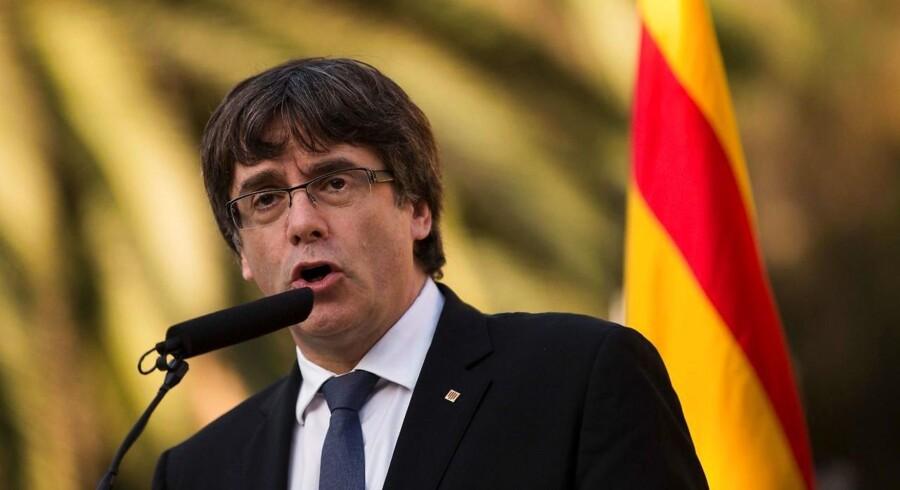 Arkivfoto:Den catalanske separatistleder Carles Puigdemont vil på mandag forlade sit eksil i Belgien for at gæste Danmark, hvor han vil komme med sit bud på den politiske situation i Catalonien under en debat på Københavns Universitet.