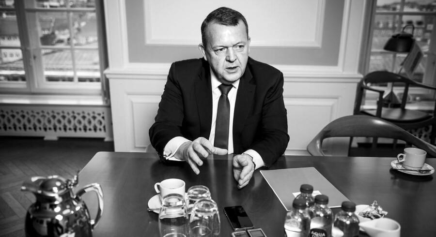 Portræt af statsministeren, Lars Løkke Rasmussen.