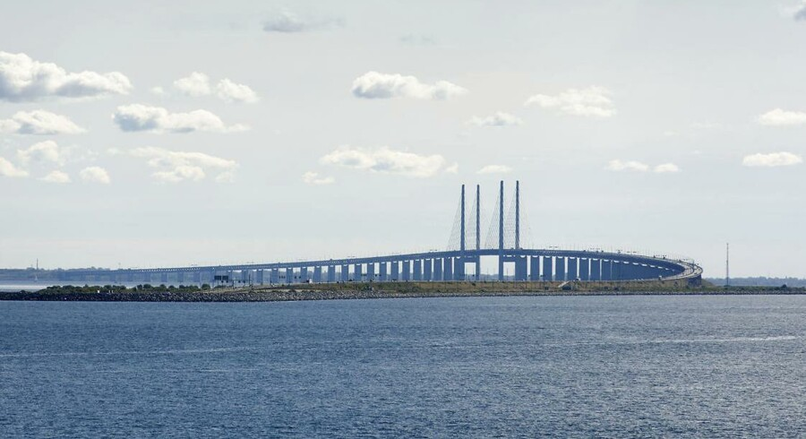 Øresundsbroen set fra Kastrup