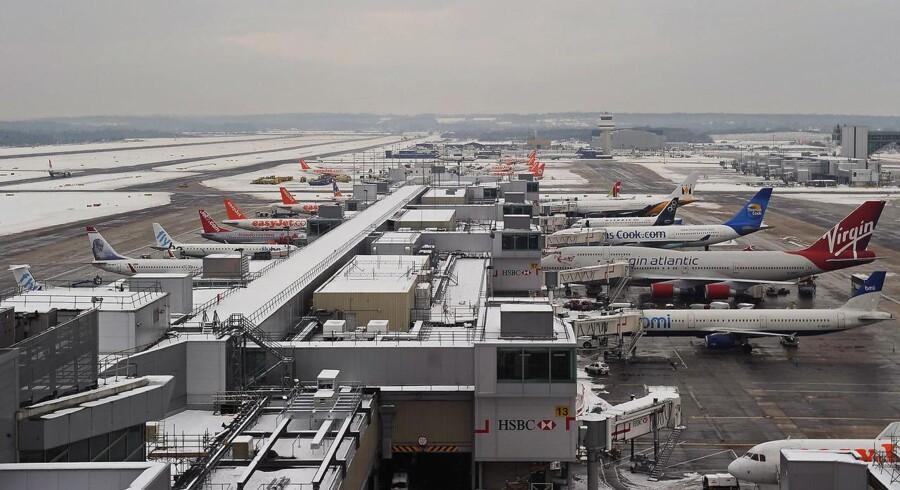 Arkivfoto af London-lufthavnen Gatwick