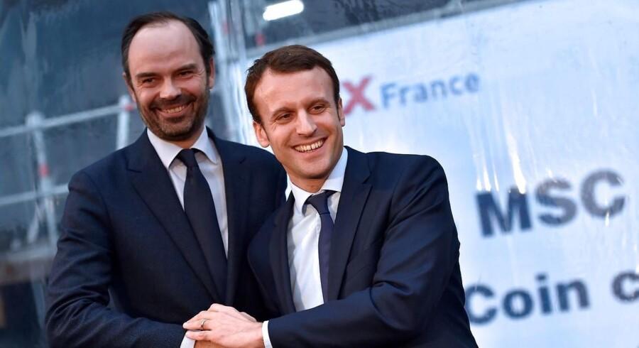 Frankrigs præsident Macron har udnævnt Edouard Philippe fra Republikanerne som ny fransk premierminister. / AFP PHOTO / LOIC VENANCE
