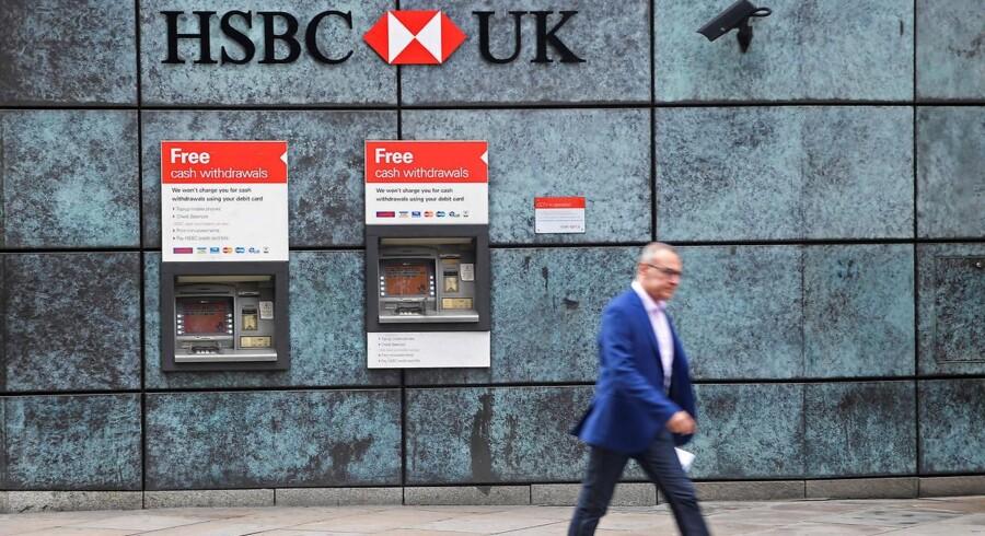 Briternes kommende udmeldig af EU har allerede fået flere finanshuse, heriblandt HSBC, til at rykke ud af Storbritannien. Nogle af dem kan København i stedet indlede jagten på. Foto: Toby Melville/Reuters