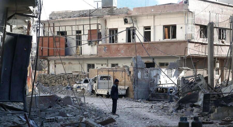 Kampene i Østghouta er blandt de hårdeste den snart syv år lange krig har oplevet, skriver Allan Sørensen.