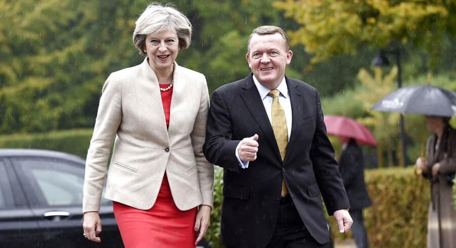 Storbritanninens premierminister,Theresa May, mødtes mandag med statsminister Lars Løkke Rasmussen (V) på Marienborg.