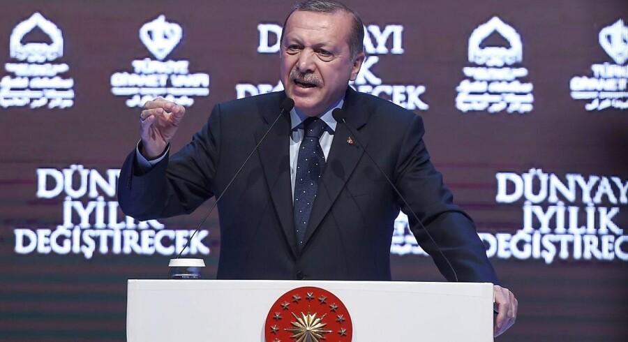 Arkivfoto. »Gudskelov, at han er anholdt. Han vil blive stillet for uafhængig domstol«, siger Tyrkiets leder.