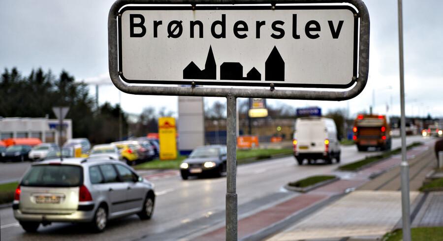 Brønderslev byskilt.