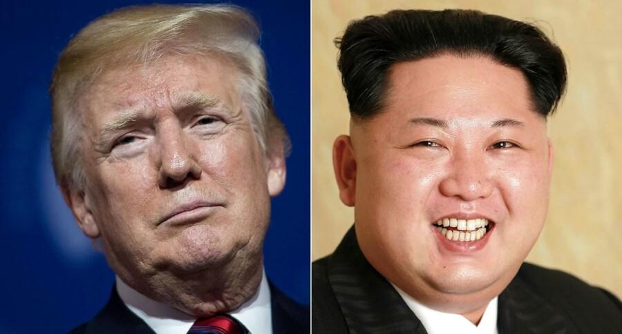 """Torsdag aflyste den amerikanske præsident Donald Trump sit planlagte møde med Kim Jong-un med en begrundelse om Nordkoreas """"åbenlyse fjendtlighed"""". Efter aflysningen gik der ikke mere end 24 timer, før Trump skiftede holdning.Foto: /Afp photo and Kcna via Kns."""