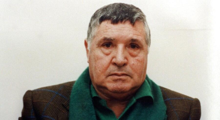 Et udateret billede af mafiabossen Salvatore »Toto« Riina.