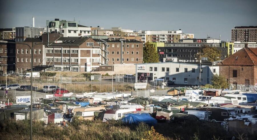 En romalejr i et industrikvarter i udkanten af Malmø. Arkivfoto.