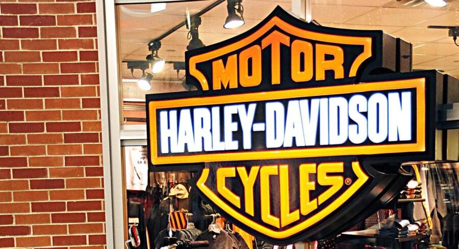 ARKIV. Billede af Harley-Davidson motorcykel tilbage fra 2009 i St. Paul, Minnesota. / AFP PHOTO / AFP FILES / KAREN BLEIER