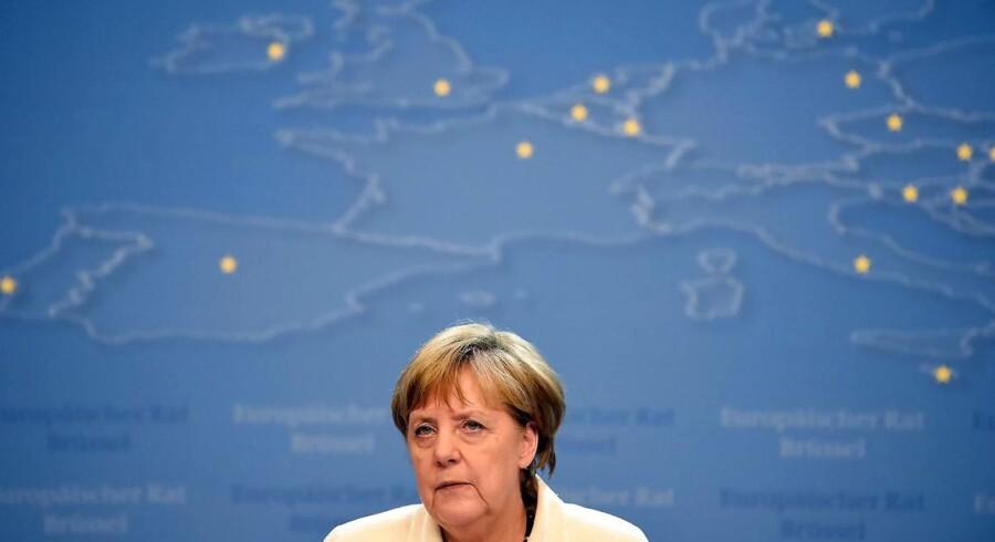 »Vi har alle brug for at se realiteterne i øjnene. Tiden er ikke inde for ønsketænkning,« siger Angela Merkel. (Foto: Stephane De Sakutin)