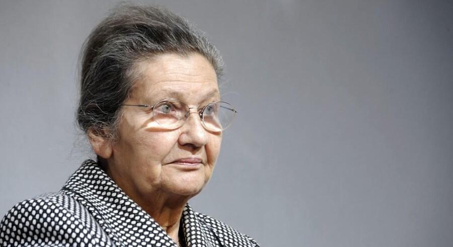 Den franske politiker og advokat Simone Veil, hvis navn forbindes med friheden til abort, er død. 89 år, oplyser familien. / AFP PHOTO / BORIS HORVAT