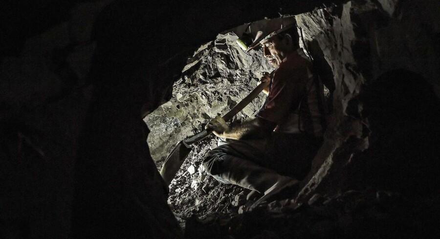 Minearbejder. ARKIVFOTO.
